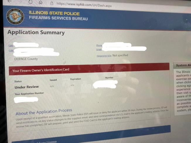 Eric陳送出槍證申請已經四個月,至今都還在等待調查。(特派員黃惠玲╱攝影)