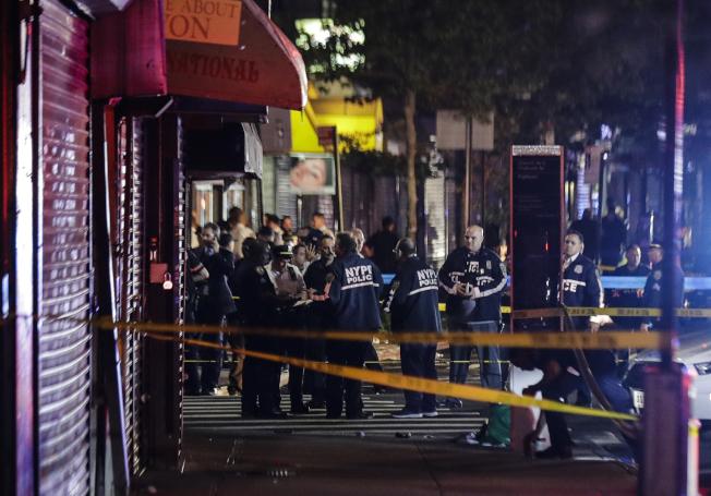 纽约市刚刚过去的周末再发生八起枪击案。(美联社)