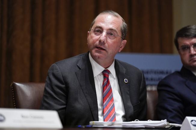 衛生福利部長阿查爾28日表示目前疫情有變,他擔心美國控制新冠肺炎疫情的「機會之窗逐漸關閉」。(美聯社)