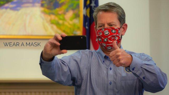 針對近日確診數飆增,喬州州長坎普表示不會以行政命令強制戴口罩。但他將會展開「戴口罩之旅」,宣導口罩的重要。(Brian Kemp推特)