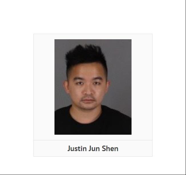 華裔嫌犯沈俊涉嫌非法種植大麻,被河濱縣警方拘捕。(警方提供)