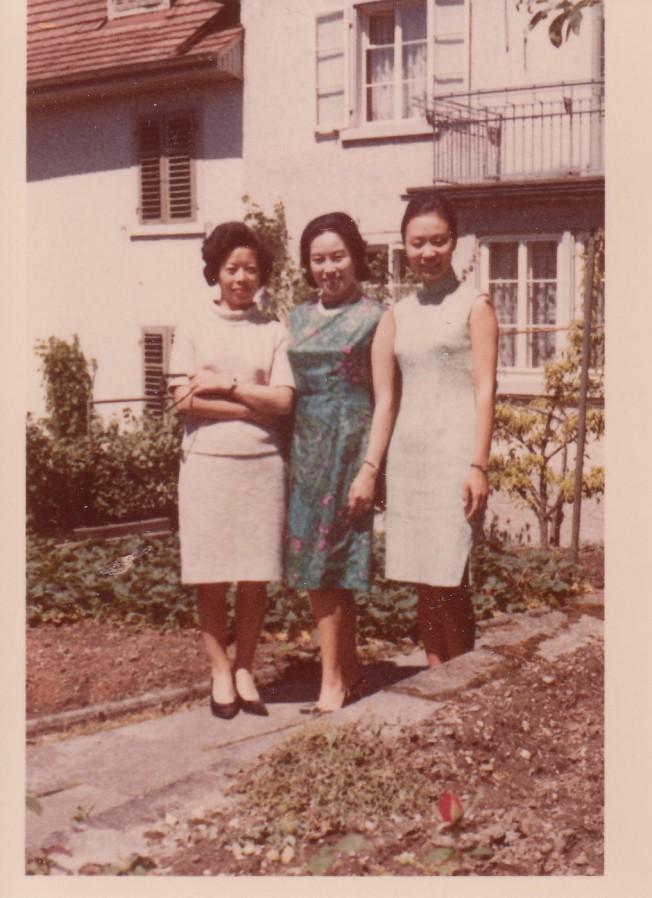 1967年於梨華與趙淑俠和友人同遊瑞士。圖/趙淑俠提供