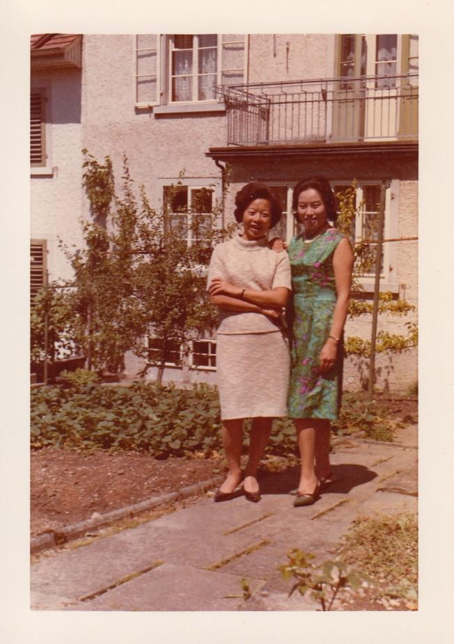 1967年於梨華與趙淑俠。圖/趙淑俠提供