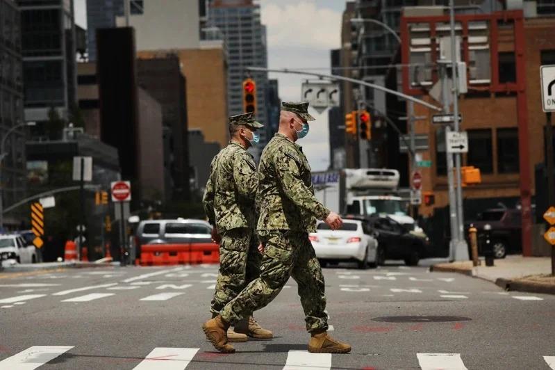 圖為美國陸軍國民警衛隊的成員。Getty Images