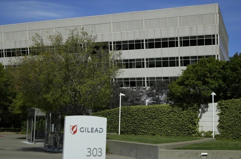 吉利德29日公布瑞德西韋的詳細定價計畫,圖為該公司位於加州福斯特市的總部大樓外觀。美聯社