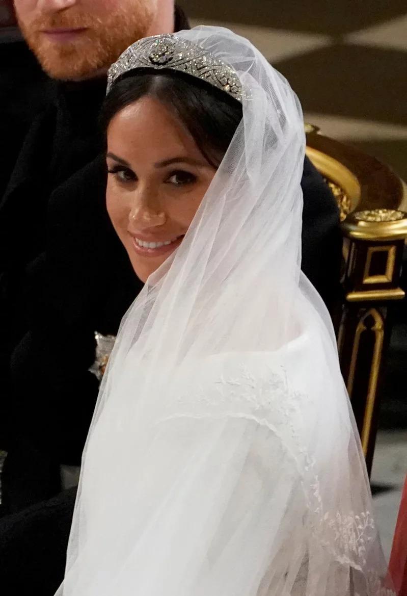 梅根被指才剛嫁進英國皇室沒幾天,就立刻讓大家傻眼。(路透資料照片)