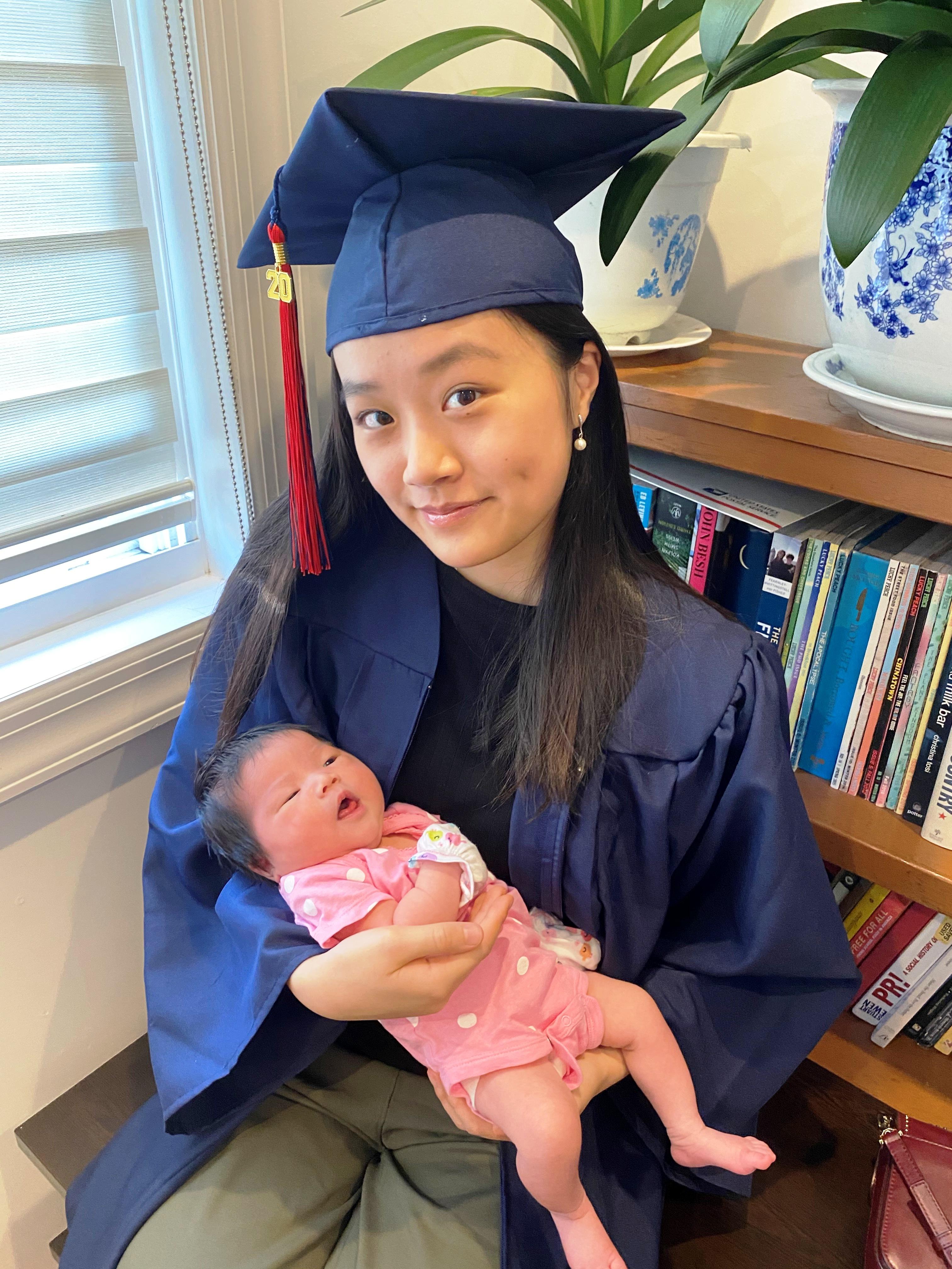 陳詩敏將在秋季到耶魯大學就學,希望透過研究數據與公共衛生,在治癒疾病尋求突破。(陳詩敏提供)