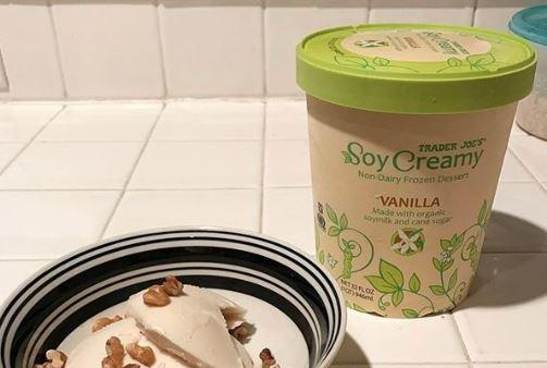 豆奶冰淇淋標榜健康無負擔。(取自推特)