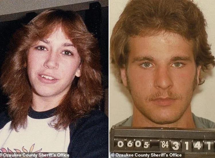 圖左為1984年慘遭殺害的18歲少女崔西、圖右為殺害崔西的表兄克羅斯。 取材自英國每日郵報