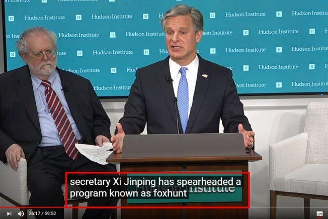 FBI爆:習近平主導「獵狐計畫」 脅迫美籍華人「回國或自殺」