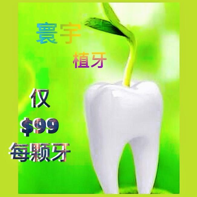 寰宇植牙僅僅$99/顆起,人人都負擔得起。