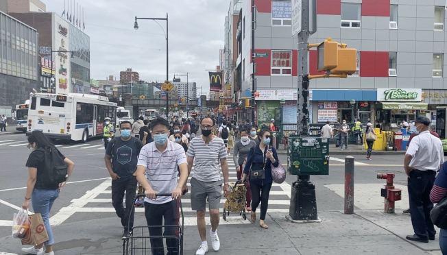 紐時的最新研究證實,紐約市在2月已出現新冠肺炎患者,但並未造成大規模傳染。(記者牟蘭/攝影)