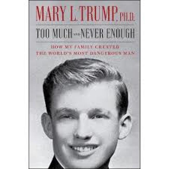 川普的姪女瑪麗‧川普所寫的爆料家族內幕的新書封面。(取自臉書)