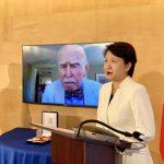 馬英九恩師、紐約大學教授孔傑榮 獲頒大綬景星勳章