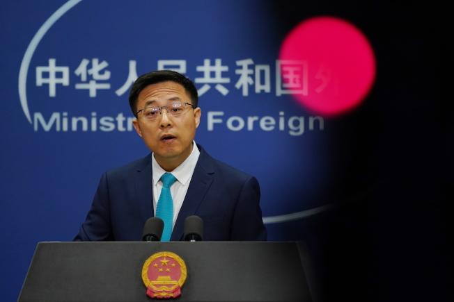 中國外交部發言人趙立堅。(歐新社)