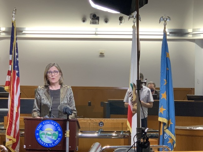 聖縣公共衛生局長柯迪表示,2日宣布的新命令也是矽谷居民未來幾個月都需要遵守的長遠控制策略。(記者江碩涵/攝影)