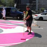 〈圖輯〉「黑人的命也是命」巨型街道塗鴉 紐約華埠中央街開工