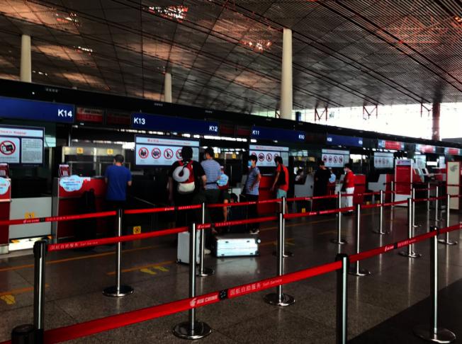 北京首都機場T3航廈。(記者賴錦宏/攝影)