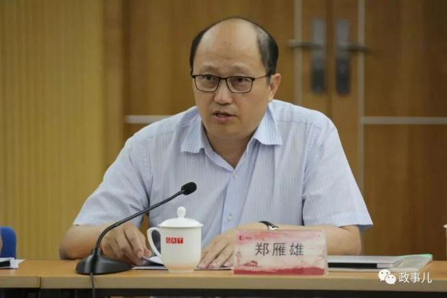 北京駐港國安公署署長鄭雁雄。(取自微信公眾號政事兒)