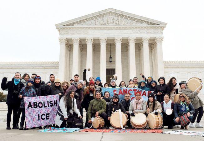 眾多夢想生從紐約市步行至華盛頓,讓更多人聽見他們的訴求。(馮巧嬋提供)