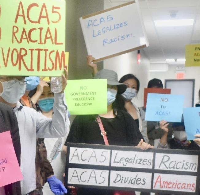 被列為16號提案的ACA-5法案在11月選舉中最受爭議。(記者黃少華/攝影)