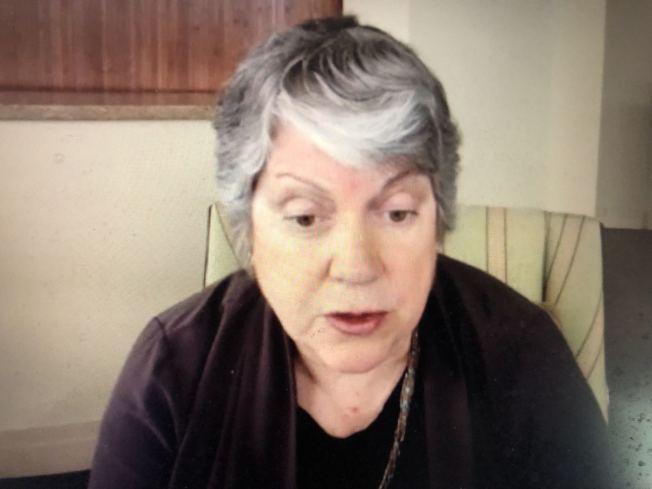 加州大學總校長納波利塔諾表示,她和加大校董均支持修憲新提案ACA-5、廢除209法案,希望加大在錄取中考量種族、民族和性別,但又不將其作為唯一和主要參考因素。(記者劉先進/攝影)