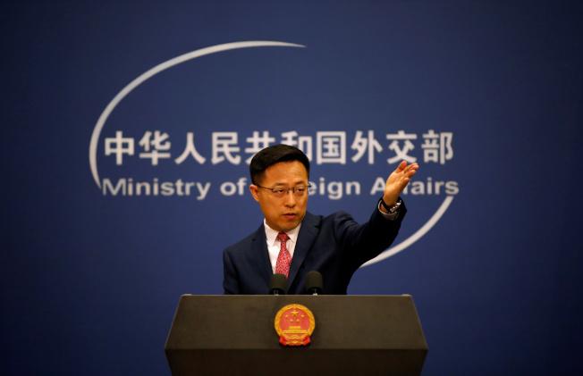 中國外交部發言人趙立堅。(路透資料照片)