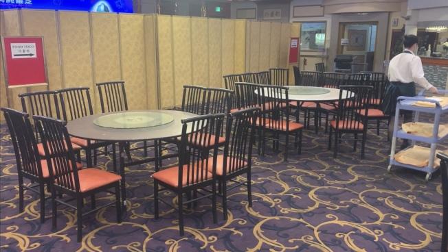 洛縣堂食開了又關,大型餐廳業者很無奈。(記者高梓原/攝影)