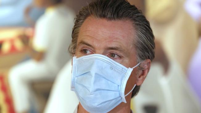 紐森在6月18日頒布全加州的口罩令,被視為太遲,應該更提宣布。(Getty Images)