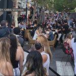 Santana Row餐館重開被擠爆 當局警告恐再關