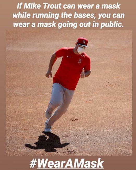 MLB/楚奧特媽媽呼籲戴口罩
