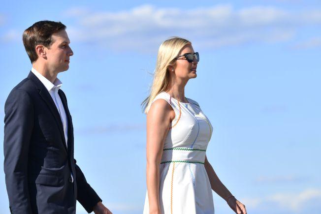 美國總統川普的女兒伊凡卡(右)和女婿庫許納。Getty Images