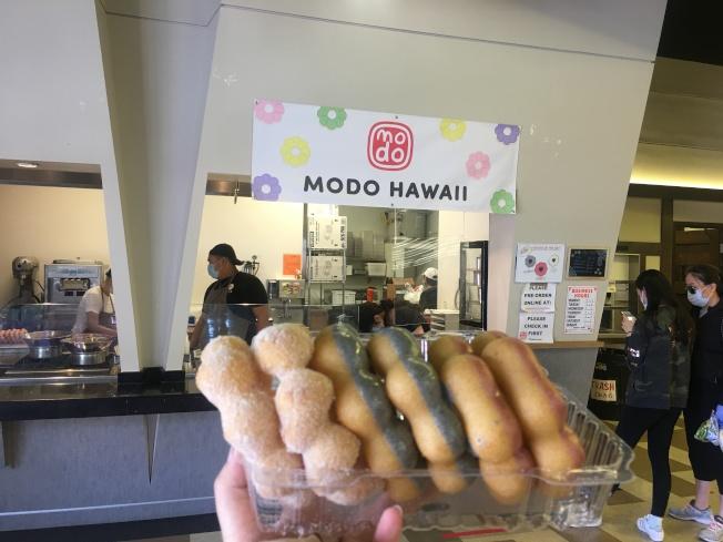 從夏威夷來的麻糬甜甜圈晉升為網紅產品。(記者王全秀子/攝影)