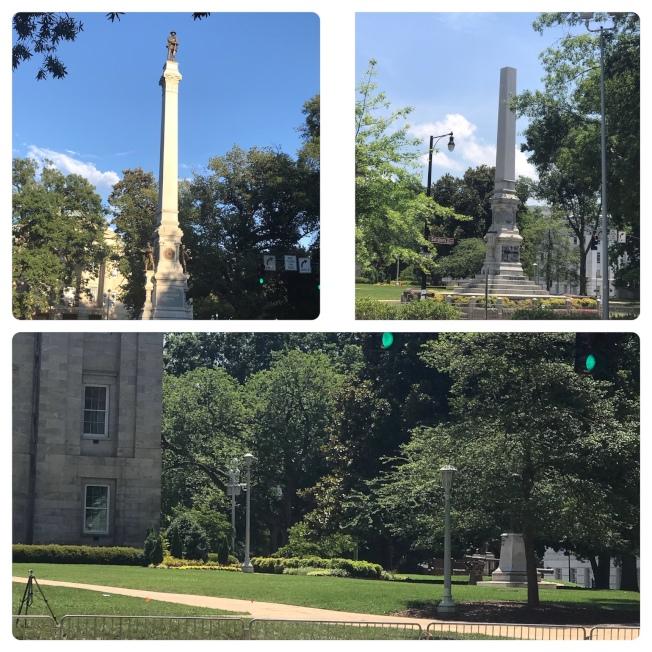 州政府前的南軍雕像和底座被拆除後,原地鋪上草坪,已找不到昔日痕跡。(記者王明心/攝影)