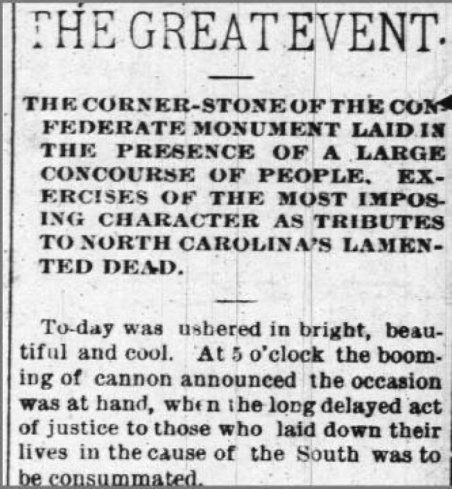 洛麗1894年5月22日的The Daily Press記載放入時間膠囊內的物品。(取自WRAL電視台)