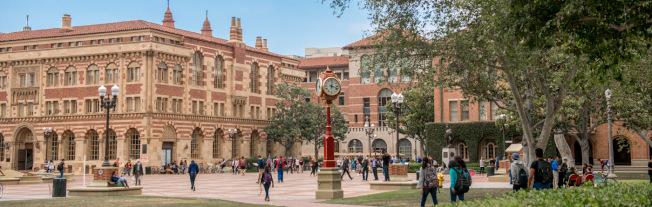 包括南加大、洛杉磯加大在内多所大學8日發聲,表示將全力以赴支持國際學生。(南加大檔案照)