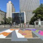 曼哈頓中央街「黑人命也是命」彩繪完工 設計者說明創作理念