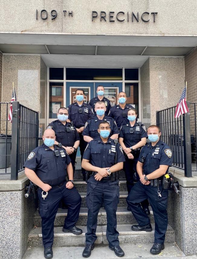 法拉盛109分局日前有多名新警員加入。(取自109分局推特)