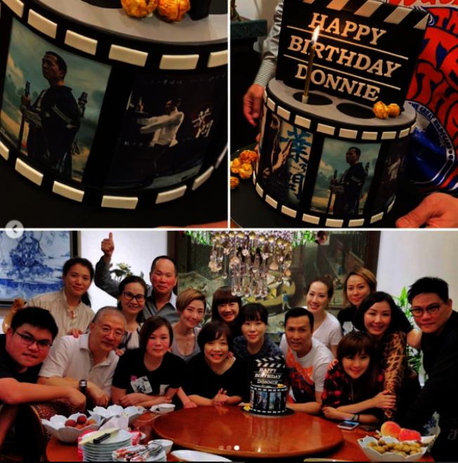 甄子丹慶祝57歲生日。(取材自Instagram)