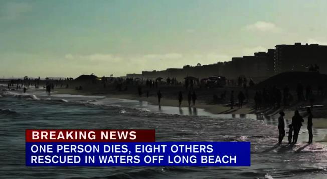 一名18歲皇后區男子9日在長灘海域遭溺,送醫後不治身亡。(取自ABC視頻)