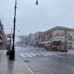 〈圖輯〉暴雨強風侵襲紐約 民眾出行困難 布碌崙多地區影響嚴重