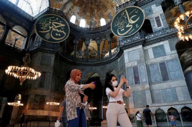 聖索菲亞大教堂是土耳其最受歡迎的景點,去年吸引370萬人參觀。路透