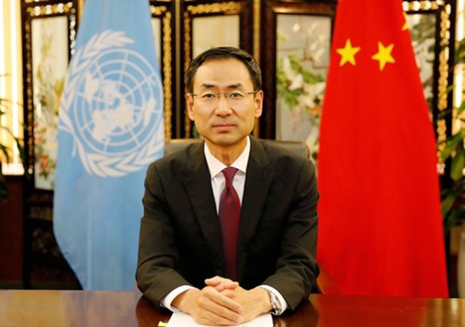 耿爽首次以新職在聯合國亮相,全英語發言呼籲國際抗擊疫情。(取材自新京報)