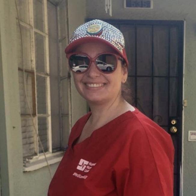 佛瑞斯諾凱撒醫療中心護理師阿爾隆(Amy Arlund)。(Amy Arlund提供)