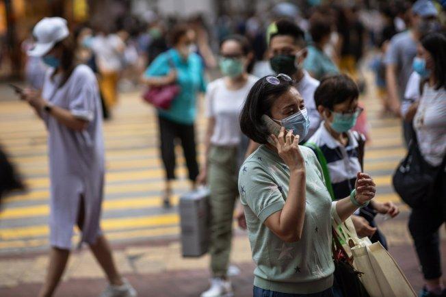 香港新冠肺炎疫情再起。圖/取自歐新社