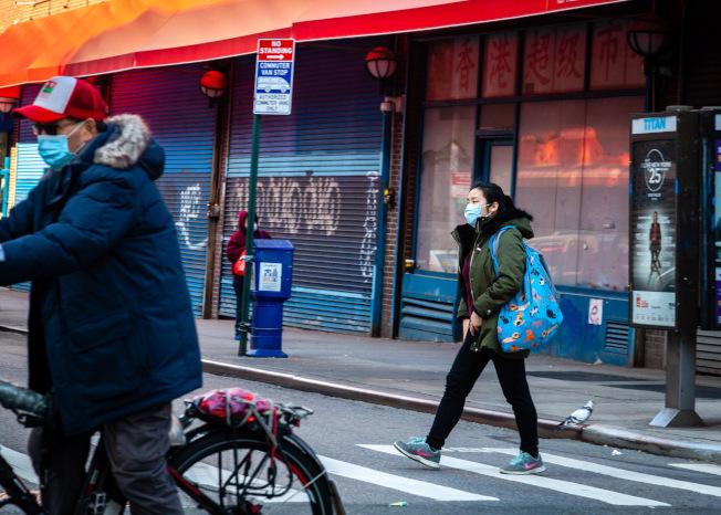 醫生表示,紐約疫情穩定是因為大部分人未感染,而非群體免疫。(記者張晨/攝影)