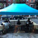 紐約暴雨 戶外餐廳被「潑冷水」