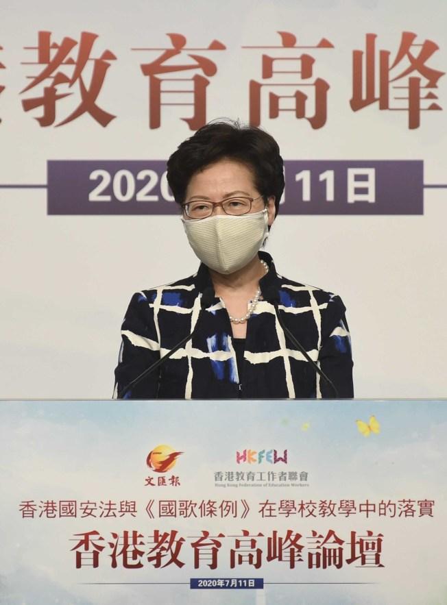 「年輕一代出了問題」…林鄭令學校全面宣揚國安法