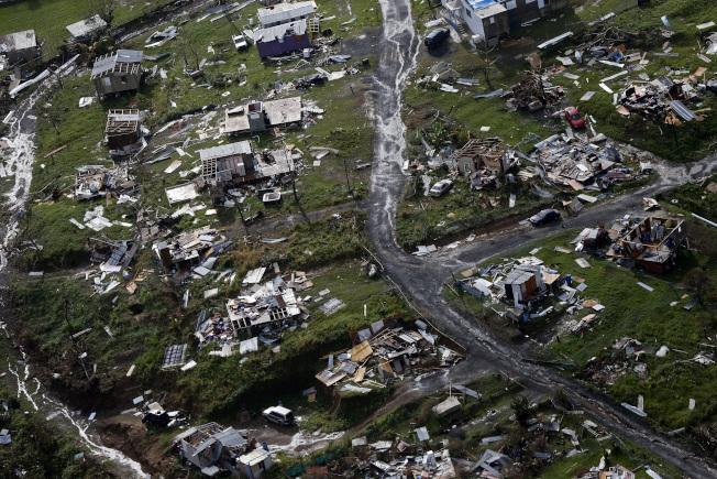 2017年颶風瑪莉亞重創波多黎各。(美聯社)