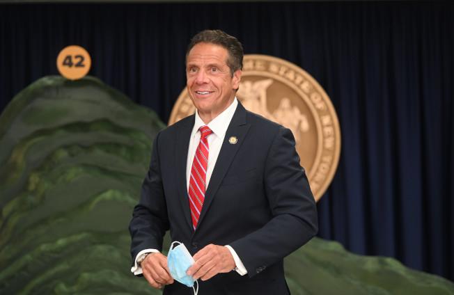 葛謨表示,全國範圍內疫情反彈對紐約州仍然構成很大威脅。(州長辦公室提供)
